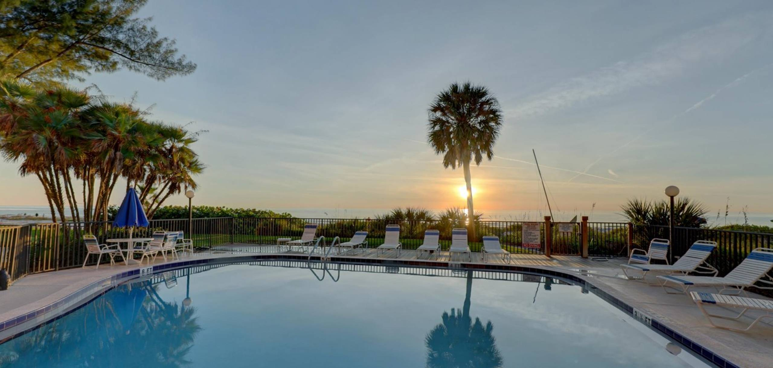 Sunset by the Pool on Indian Shores Beach