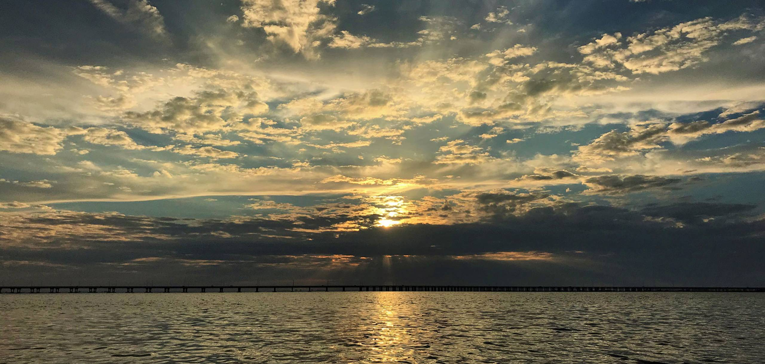 Cloudy Sunrise over Tampa Bay | Long Key Vacation Rentals