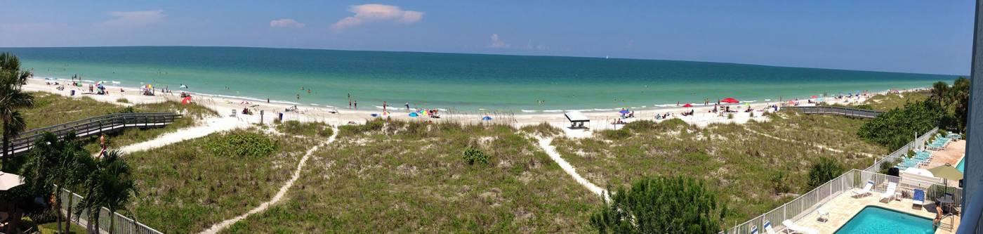 Panorama view of beach condos | Long Key Vacation Rentals